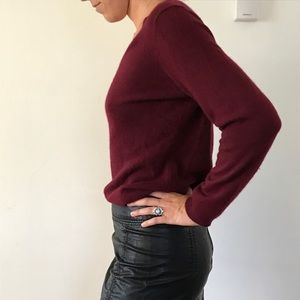 Macy's 100% cashmere burgundy sweater - Med
